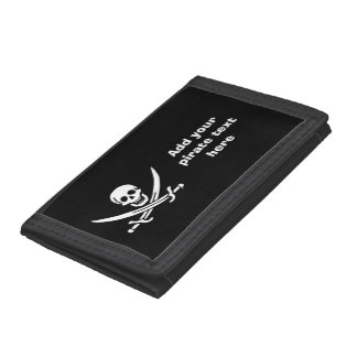 Jolly roger pirate flag tri-fold wallet