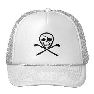 Jolly Roger Pirate Golfer Cap Trucker Hat