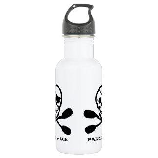 Jolly Roger Pirate Kayak Stainless Steel Water Bottle