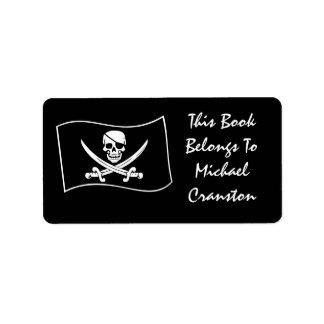 Jolly Roger Pirate Label Custom Address Labels