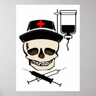 Jolly Roger Pirate NURSE PRINT