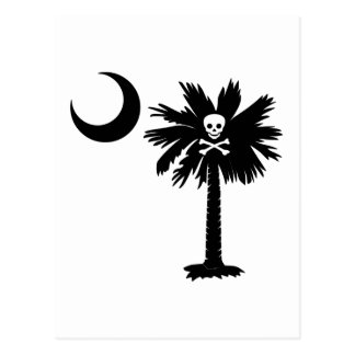 Jolly Roger Pirate Palmetto Postcard