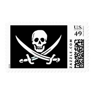 Jolly Roger Pirate postage stamp