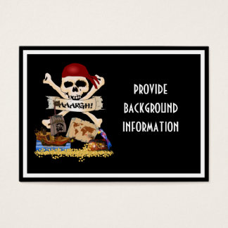 Jolly Roger, Pirate Ship & Pirate's Chest Business Card