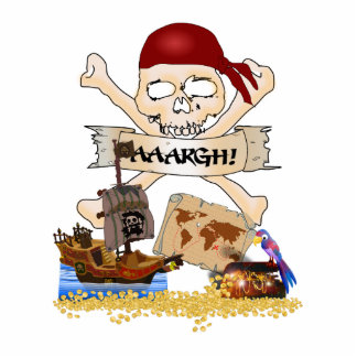 Jolly Roger, Pirate Ship & Pirate's Chest Cutout