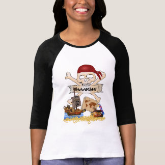 Jolly Roger, Pirate Ship & Pirate's Chest T-Shirt