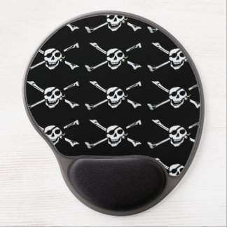 Jolly Roger Pirate Skull Pattern Gel Mouse Pad