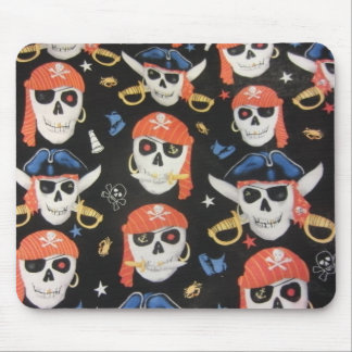 Jolly Roger Pirate Skulls Mouse Pad