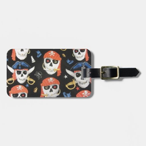 Jolly Roger Pirate Skulls Tag For Luggage