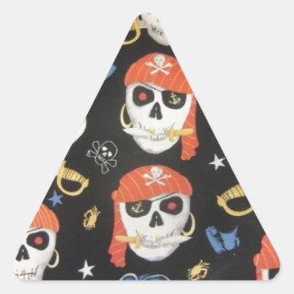 Jolly Roger Pirate Skulls Triangle Sticker