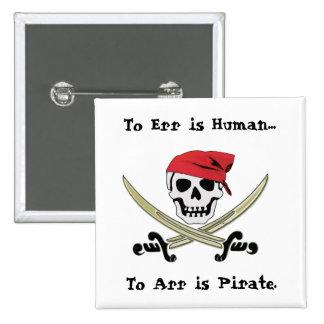 Jolly Roger Pirate Talk Pin Button