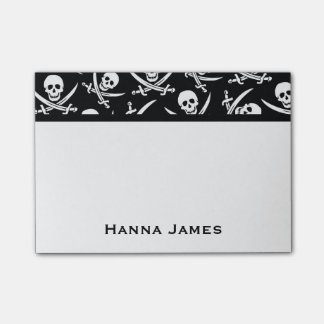 Jolly Roger Pirate Theme Personalized Post-it Notes