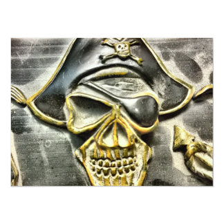 Jolly Roger Pirate Treasure Chest Card