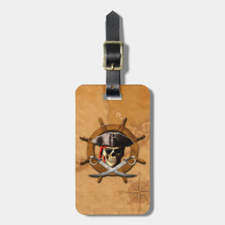 Jolly Roger Pirate Wheel Bag Tag