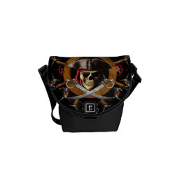 Jolly Roger Pirate Wheel Courier Bag