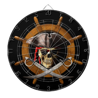 Jolly Roger Pirate Wheel Dartboard