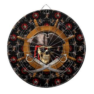 Jolly Roger Pirate Wheel Dart Board