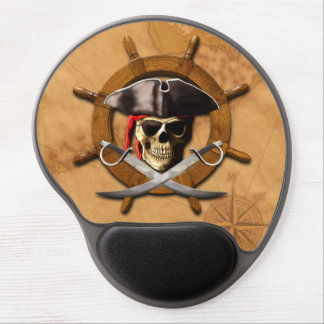 Jolly Roger Pirate Wheel Gel Mouse Pad
