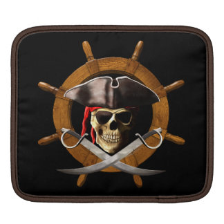 Jolly Roger Pirate Wheel Sleeve For iPads