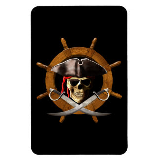 Jolly Roger Pirate Wheel Magnet