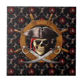 Jolly Roger Pirate Wheel Tile