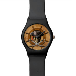 Jolly Roger Pirate Wheel Wristwatch