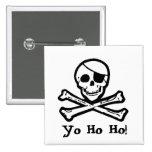 Jolly Roger Pirate Yo Ho Ho Button