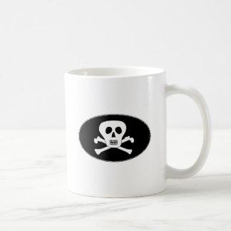 Jolly Roger Pirates Oval Logo Classic White Coffee Mug