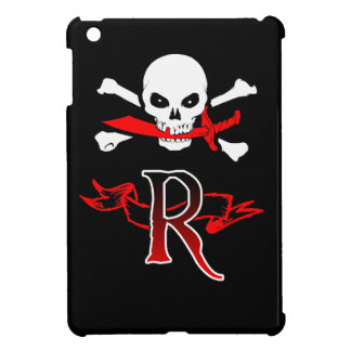 Jolly Roger R Monogram Initial Cover For The iPad Mini