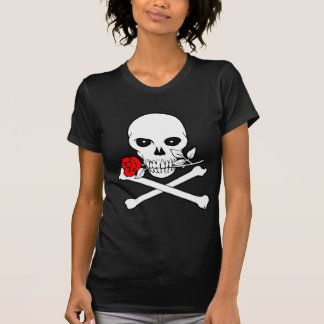 Jolly Roger (Rose)Ladies Dark T-Shirt