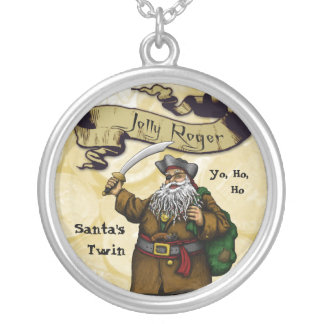 Jolly Roger - Santa's Twin Round Pendant Necklace