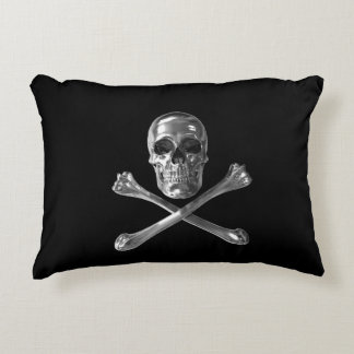 Jolly Roger Skull Accent Pillow