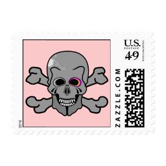 Jolly Roger skull and cross bones Postage Stamp