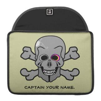 Jolly Roger skull and cross bones Sleeve For MacBooks