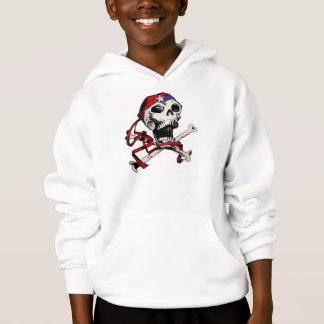Jolly Roger Skull and Crossbones Hoodie