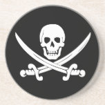 Jolly Roger Skull And Crossbones Pirate Gifts Beverage Coaster