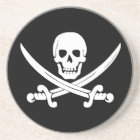 Jolly Roger Skull And Crossbones Pirate Gifts Drink Coaster