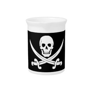 Jolly Roger Skull And Crossbones Pirate Gifts Pitchers