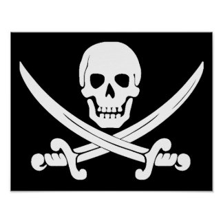 Jolly Roger Skull And Crossbones Pirate Gifts Poster