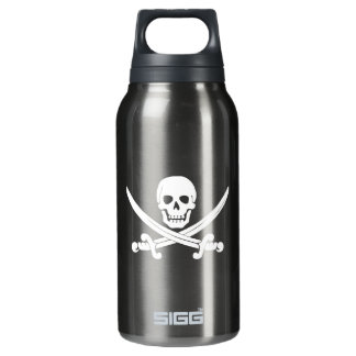 Jolly Roger Skull And Crossbones Pirate Thermos Water Bottle