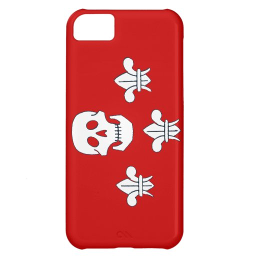 JOLLY ROGER SKULL AND THREE LILIES FLAG CASE FOR iPhone 5C