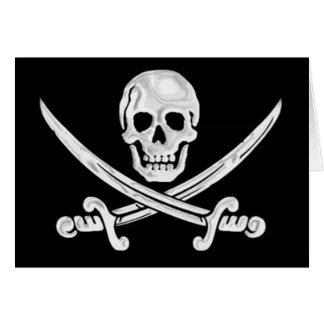 Jolly Roger Skull Card