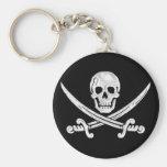Jolly Roger Skull Keychain