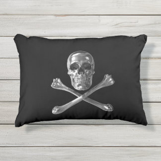 Jolly Roger Skull Outdoor Accent Pillow