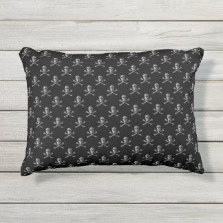 Jolly Roger Skull Pattern Outdoor Accent Pillow