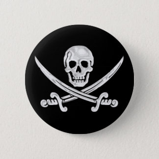 Jolly Roger Skull Pinback Button