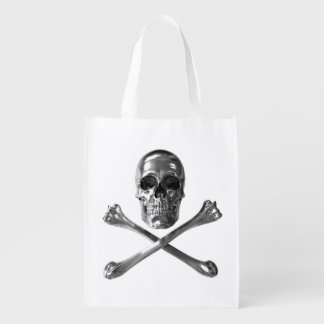 Jolly Roger Skull Reusable Grocery Bag
