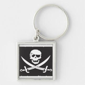 Jolly Roger Skull & Sword keychain