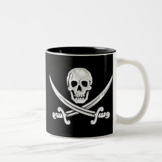 Jolly Roger Skull Two-Tone Coffee Mug