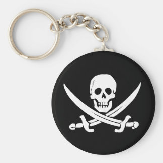 Jolly Roger Sword Pirate Keychain